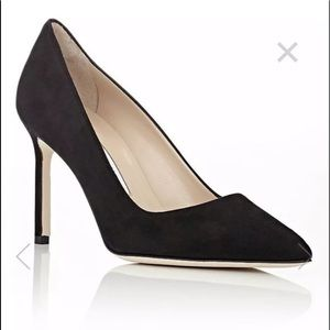 BRAND NEW! Manolo Blahnik BB Black Suede Pump 39.5